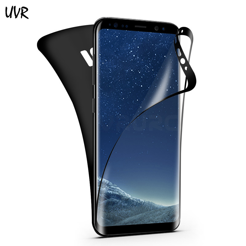 For Samsung Galaxy S7 edge S8 S8 Plus Front and Back Electroplating PET Full Cover Screen Protector 3D Curved Soft Film Not Glas image