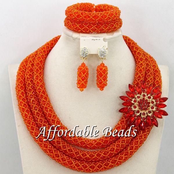 Gorgeous Fashion Beads Set Marvelous Wedding Jewelry Set Handmade Item Free Shipping BN288
