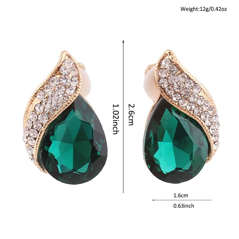 High-grade Rhinestone Crystal Tear Drop Shape Clip on Earrings Non Piercing for Women Wedding Luxury No Hole Earrings New