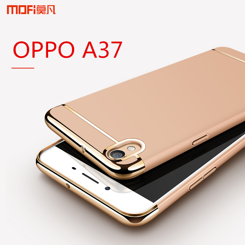 free shipping b76bf a04c6 US $9.99 |OPPO A37 case cover luxury case rose gold pink hard back case 3  in 1 MOFi original capa coque funda oppo A37 A37m blue red 5