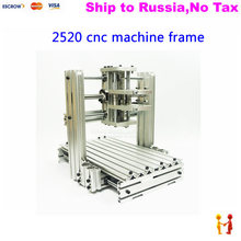 (NO TAX TO Russia)  cnc router , cnc milling machine frame kit 2520 with aluminum plate mini lathe