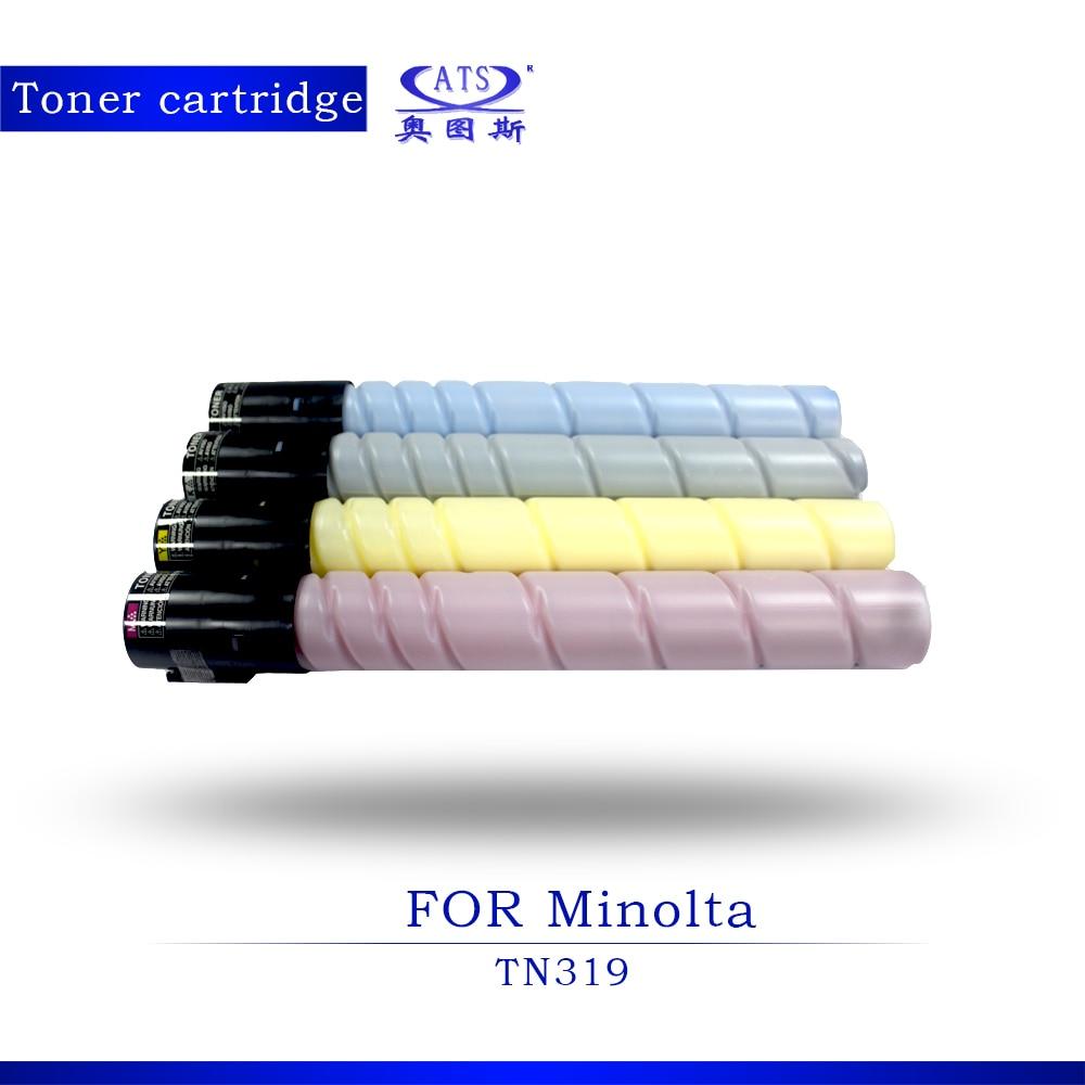 1PCS TN319 Toner Cartridge For Minolta Bizhub BH C360 Copier Parts Compatible with BHC 360 Photocopy machine 1pcs photocopy machine toner cartridge for xerox dcc 6550 c 5400 6500 7500 copier parts dcc6550 toner powder page 2