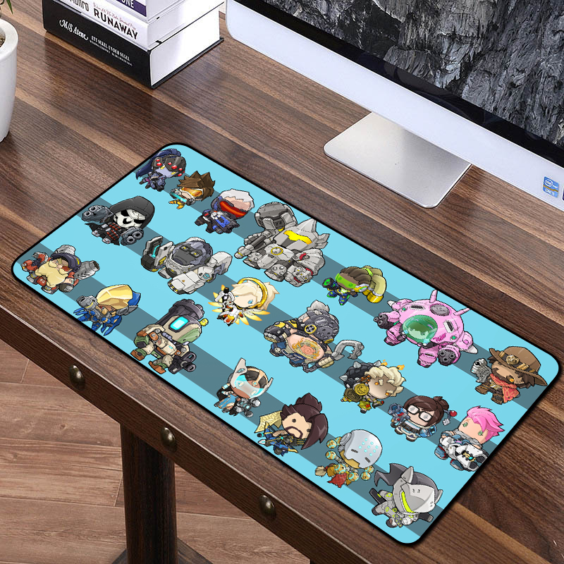Computer & Office Fffas 70x40cm Large Game Mouse Pad Cartoon Game Characters Notebook Computer Pc All Available For Overwatch Lol Csgo Washable Xl Preventing Hairs From Graying And Helpful To Retain Complexion Computer Peripherals