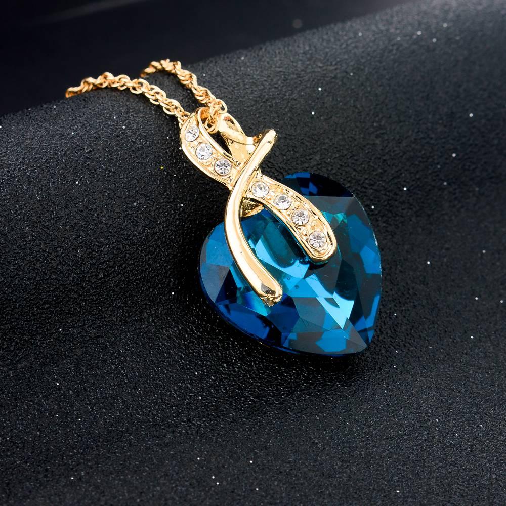 SZELAM 2019 Κρύσταλλο Καρδιά Κολιέ - Κοσμήματα μόδας - Φωτογραφία 4