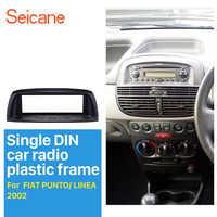 Seicane Lettore Audio Dash Kit Viso Pannello Piatto 1 Din Car Radio Fascia per il 2002 FIAT punto linea refitting Stereo telaio 183*53mm