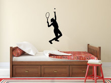 YOYOYU Wall Sticker Tennis Silhouette Playroom Poster Vinyl Art Decor Sports Active Mural Removeable J155
