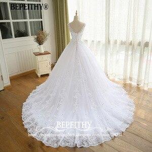 Image 2 - Gorgeous Ball Gown Wedding Dress With Lace Vestido De Novia Princesa Vintage Wedding Dresses Real Image Bridal Gown 2020