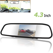 """Univeral 4.3 Pollici A Colori TFT LCD Parcheggio di Retrovisione Dell'automobile Monitor Dello Specchio di 4.3 """"Monitor di Rearview per il Backup della Macchina Fotografica di Inverso"""