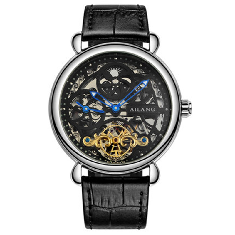 Deluxe automático reloj mecánico dial doble zona horaria función - Relojes para hombres - foto 4