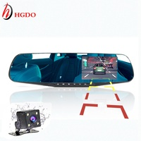 4 3 Rearview Mirror 1080p Car DVR Dual Lens Parking Video Recorder Registrator Dash Camera Full