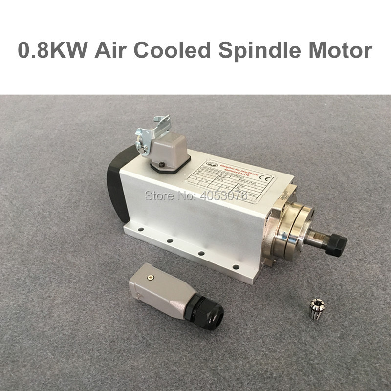 Broche haute vitesse 800 w air refroidissement CNC broche de fraisage moteur 0.8kw 220 v ER11 avec 4 pièces de roulement pour CNC routeur