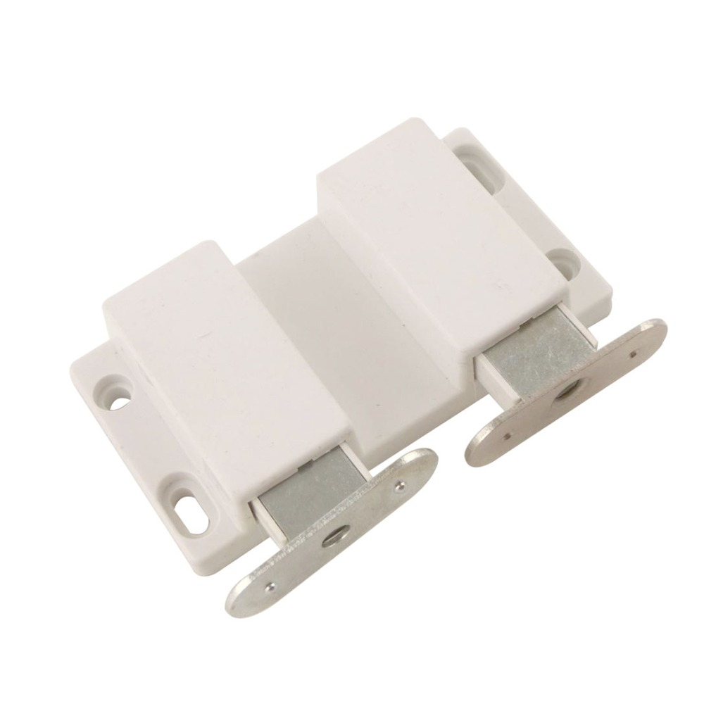 Online get cheap cabinet door magnetic catch aliexpress 2pcs double magnetic catch door catches 39x73x15mm kitchen cabinet door stop drawer white soft close drawer eventelaan Choice Image