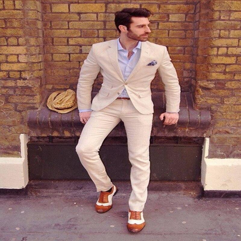 Costume homme2018 jeunesse hommes Costume d'été gap revers robe de marié Costume personnalisé hommes deux pièces (manteau + pantalon)