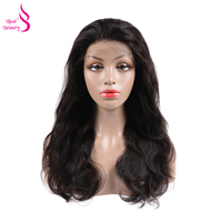 Real Beauty Glueless Full Lace Human Hair Wigs Pre Plucked Body Wave Brazilian Remy Hair Wig For Women