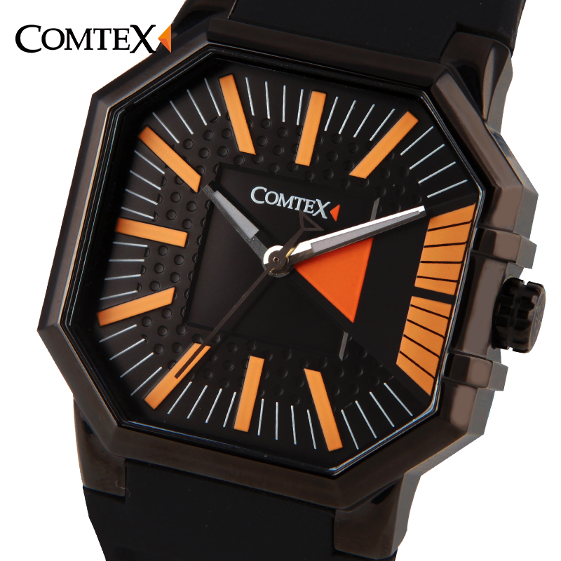 COMTEX Men Watches Army Quartz Black Casual Fashion Sport Square Male Wristwatch Luxury Brand Waterproof Character Watch Gift watches men luxury original brand otex sport watches men fashion wristwatch waterproof male leather quartz watch