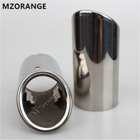New Arraived Stainless Steel Car Rear Round Exhaust Pipe Tail Muffler Tip For Audi A4 A5