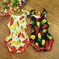 Niñas bebés ropa sandía impresión Del Mameluco Del bebé, moda Blusas Sin Mangas Bebé Recién Nacido Ropa de Algodón ropa Del Niño