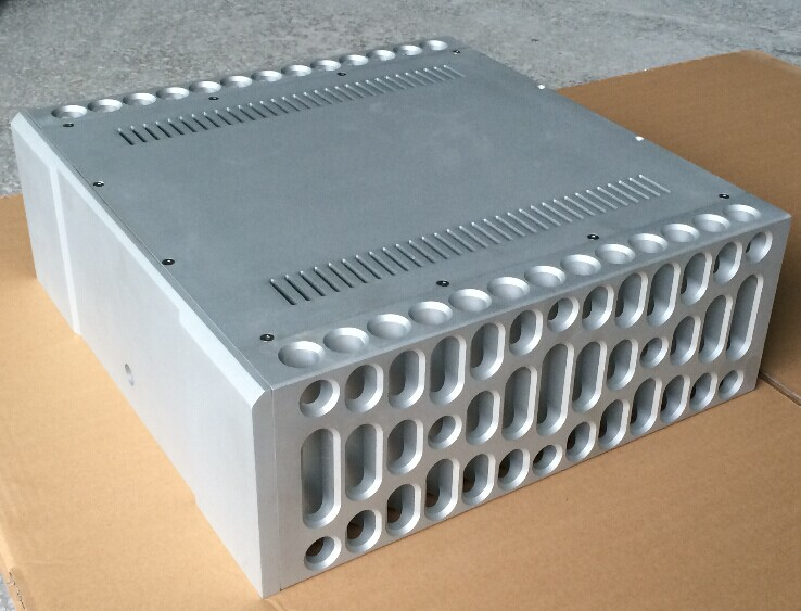 Imitate BOLDER style percision work CNC power amplifier aluminum chassis box