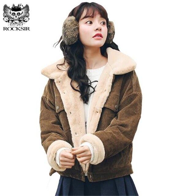 Chaud Hiver Vintage En Femmes D'agneau Rocksir Laine Manteaux 4U8xpq