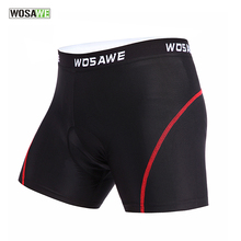 WOSAWE Cycling Underwear 3D Padded Shorts Shockproof Road MTB Bike Bicycle Men Compression Tights Short