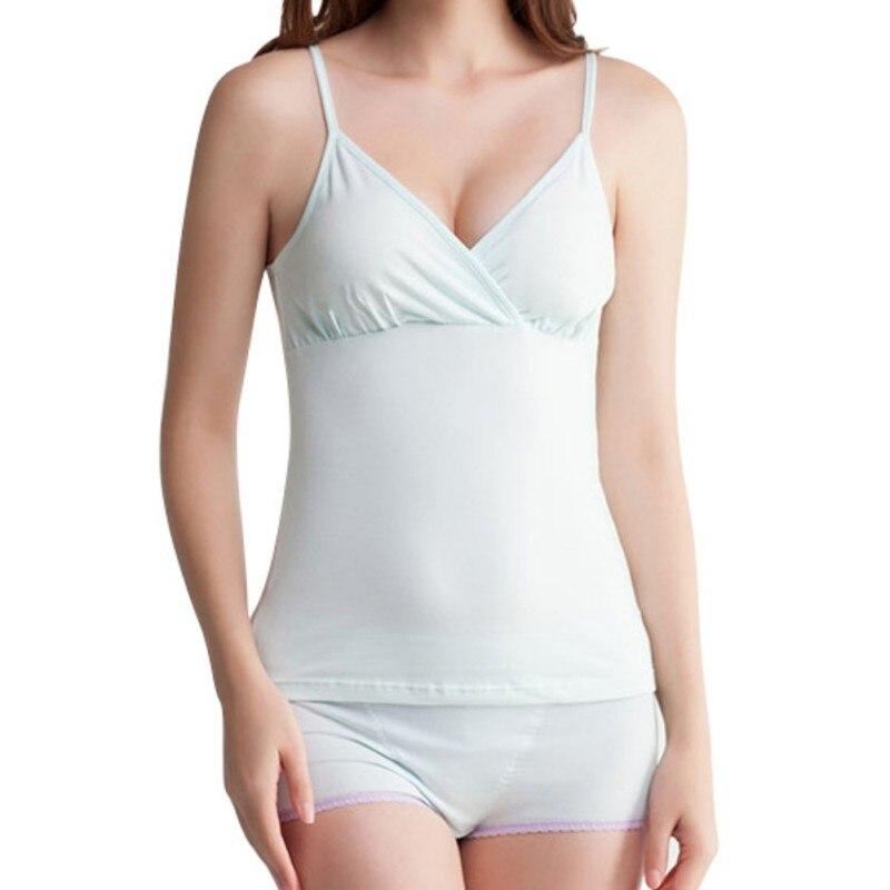 New Design Motherhood Nursing Camis Nursing Tops Womens Solid Tanks Maternity Clothes For Pregnancy Sleep Bras Tops