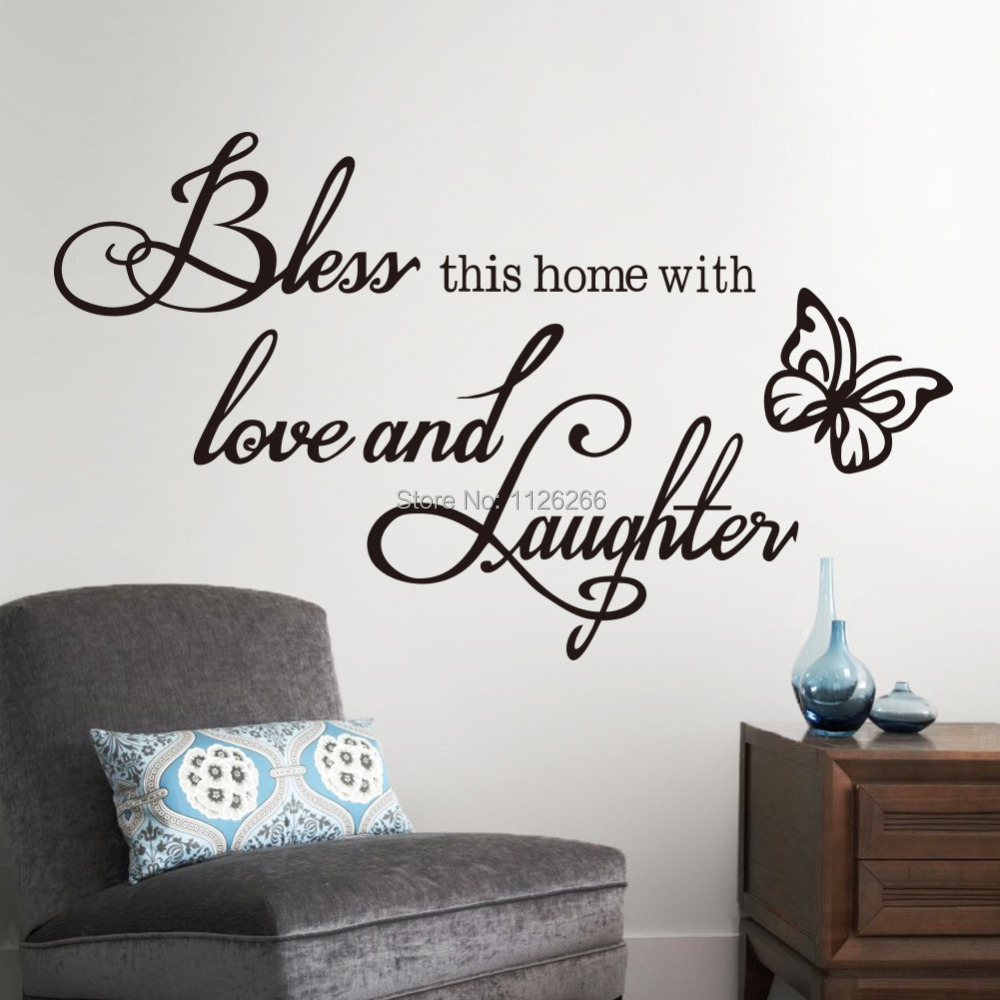 online get cheap christian wall decals aliexpress com alibaba group bless this home quote vinyl wall decal sticker god jesus bible religious christian for room decor