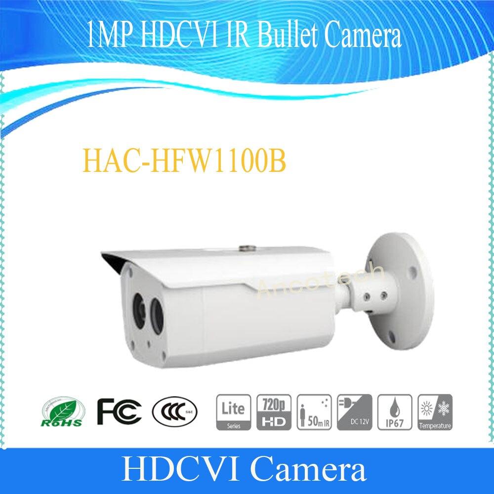 Dahua Free Shipping CCTV Security Camera 1MP 720P HDCVI IR-Bullet Camera IP67 Without Logo HAC-HFW1100B free shipping dahua cctv security camera 1mp hdcvi ir bullet camera ip67 without logo hac hfw1100sl