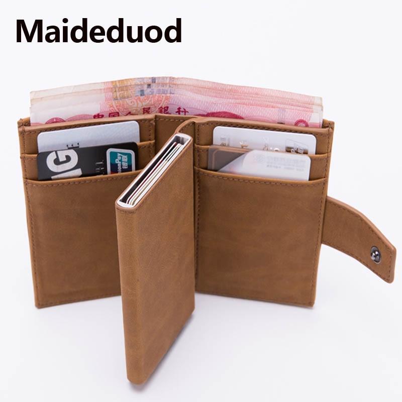 maideduod 2019 new style rfid card holder minimalist