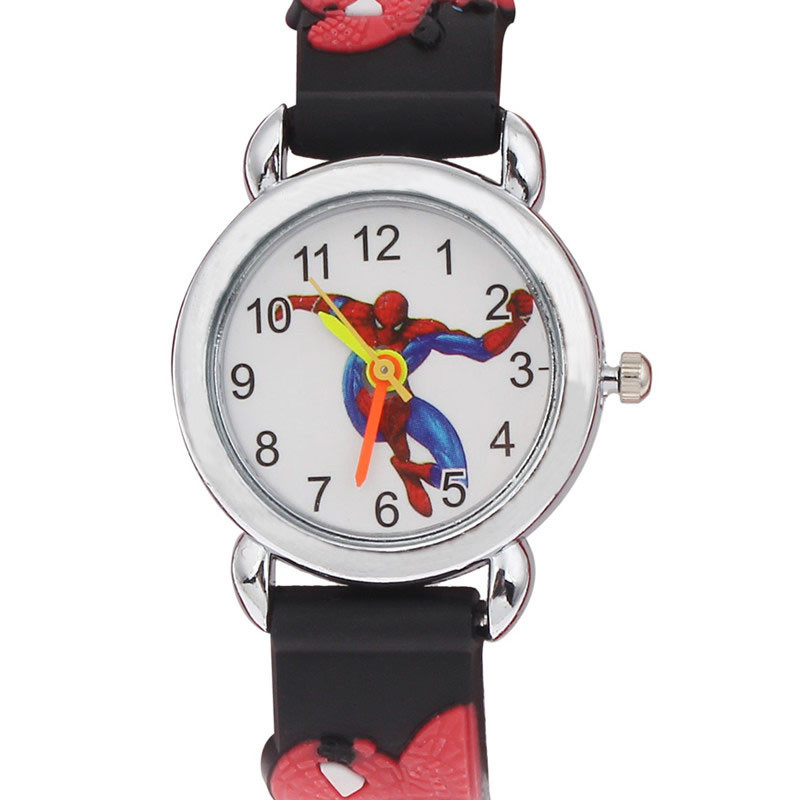 2017 hot sale spiderman watches children cartoon watch kids cool 3d rubber strap quartz watch for Spiderman watches