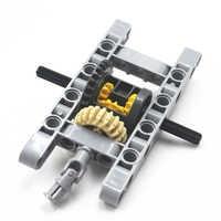 MOC blöcke Technik Teile 10 teile/satz Technik GERAHMTE DIFFERENTIAL GEAR SET Kit Pack Chassis Part Chassis Teil Kompatibel Mit Lego