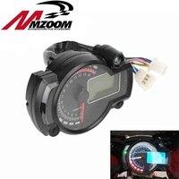 15000rpm Modern Motorcycle Digital Light LCD Digital Gauge Speedometer Tachometer Odometer Adjustable Motorcycle Speedometer
