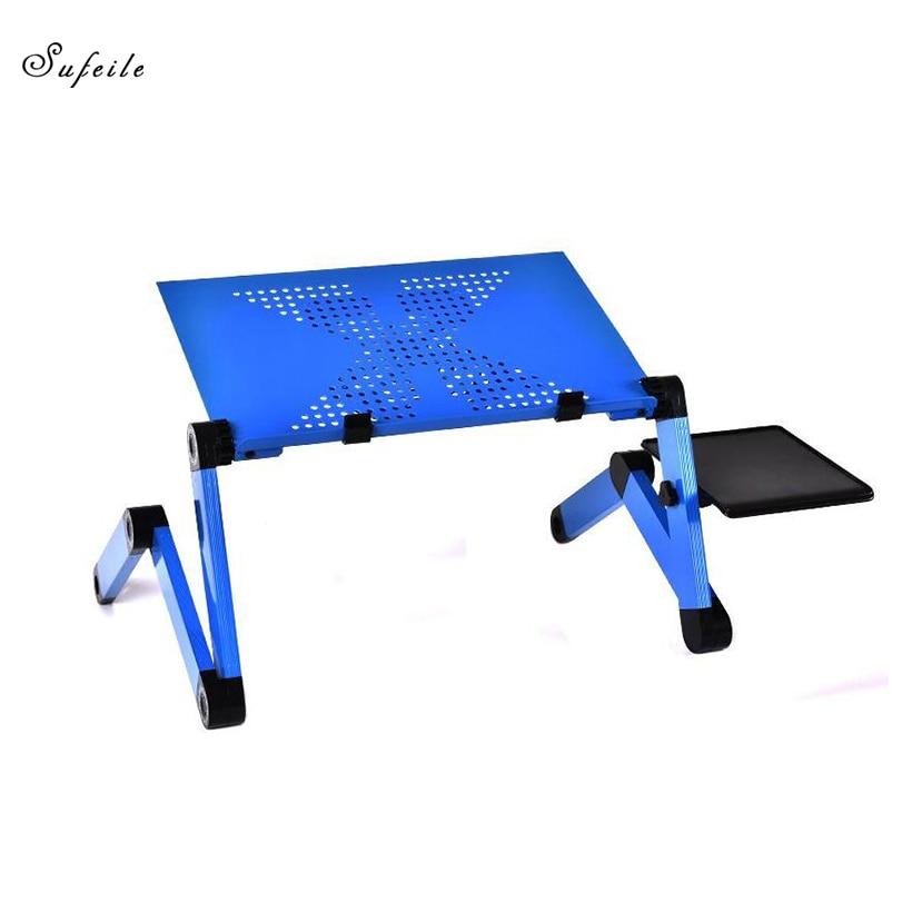 SUFEILE Folding Laptop Table Portable Adjustable Notebook Desk Table Multifunctional Aluminum Laptop Stand Folding Study Table