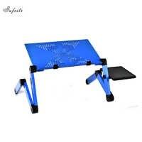 SUFEILE พับโต๊ะแล็ปท็อปแบบพกพาโน้ตบุ๊คโต๊ะอลูมิเนียมขาตั้งแล็ปท็อปพับตารางการศึกษา
