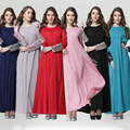 2015 Nuevo Abaya Musulmán Ropa Islámica Decoración Lentejuelas Vestido Abaya Musulmán de Manga Larga Vestido De Moda Pakistani JZ2439