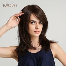 купить✲  Haircube 16 Дюймов Синтетический Парик Фронта Шнурка Для Белых Женщин Естественная Волна  Лучший!
