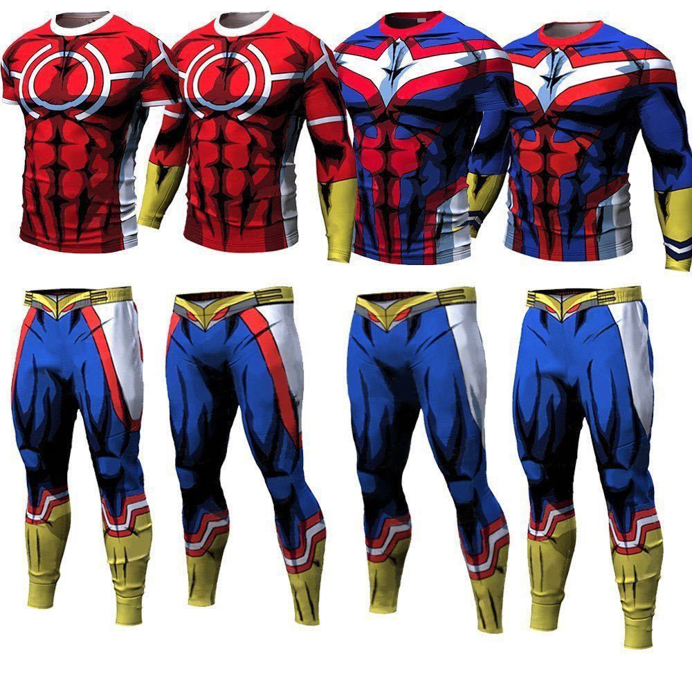 Boku No Hero Academia All Might All Roles Gym Suit High School Uniform Sports Wear Outfit Tops / Pants Anime Cosplay Costume