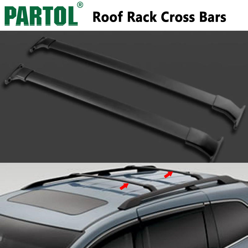 Partol Black Car Roof Rack Cross Bars Roof Luggage Carrier Roof Rail For Honda Odyssey 2011 2012 2013 2014 2015 2016 2017 132LBS 2pcs roof rack cross bar crossbar black abs aluminum for jeep compass 2011 2015