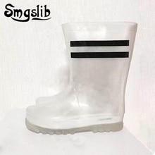 Children Rainboots 2019 Fashion Waterproof Pvc Girls Boots Kids Boys