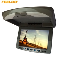 FEELDO 9 Flip Down TFT LCD Monitor Car Monitor Roof Mounted Monitor 2 Way Video Input #HQ1282