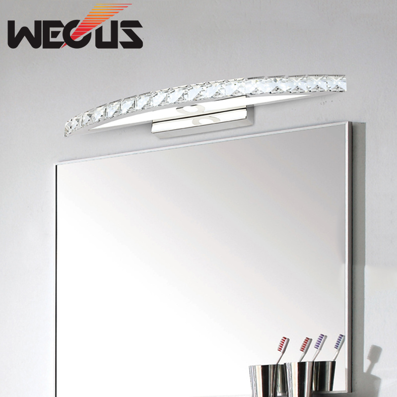 440mm 10W bathroom mirror light, 100-240V bedroom led mirror lamp, amber / clear crystal wall lamps440mm 10W bathroom mirror light, 100-240V bedroom led mirror lamp, amber / clear crystal wall lamps