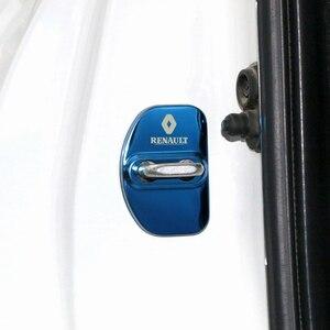 Image 5 - 4 pçs carro estilo do carro fechadura da porta caso capa para renault megane 2 megane 3 laguna 2 captur fluência latitude clio estilo do carro