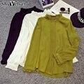 2017 Новый Летний Стиль С Длинным Рукавом Женщины Топы Шифон Блузка Мода Цвет Женщины Блузки Плюс Размер Рубашки Blusas Femininas