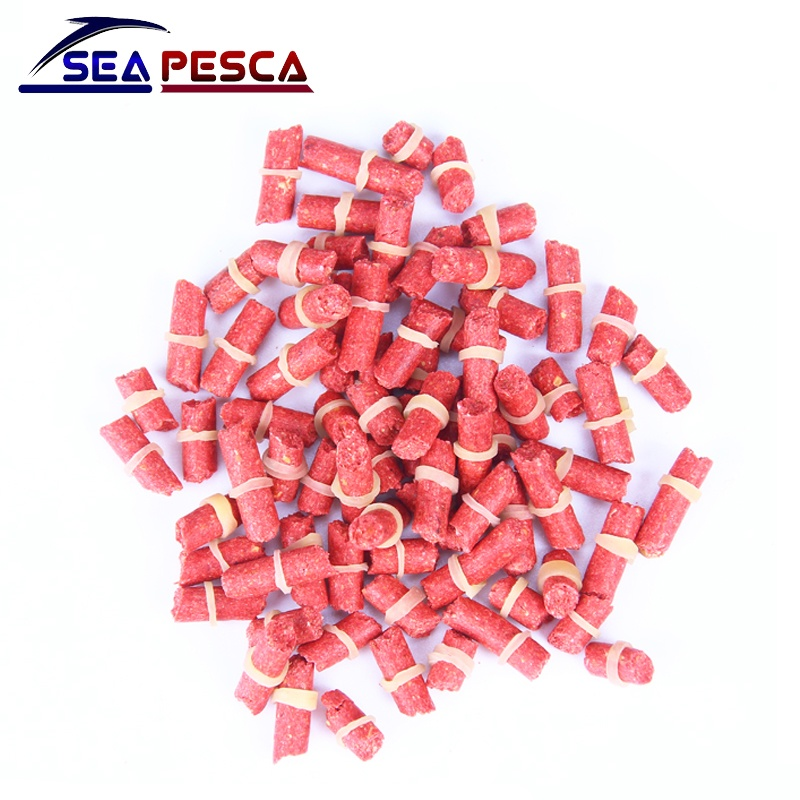 SEAPESCA Fishing Lures Red Worm Smell Grass Carp Baits 60-70 pcs Isca Artificial Accessories Pesca Soft Bait JK395 rompin 100pcs bag red carp fishing bait smell grass carp baits fishing baits lure formula insect particle rods suit particle