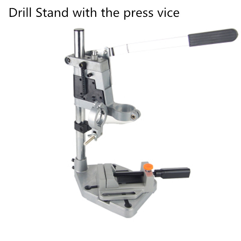 Electric Drill Stand Bench Drill Press Stand Double Clamp Base Frame Drill Holder With Drill Press Vice