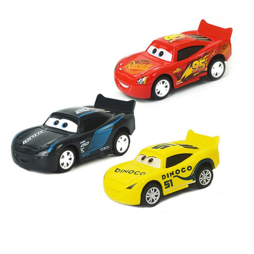 Disney Brand Pixar Cars Cartoon New General Mobilization Styles McQueen King Of Family Racing 1:55 Diecast Metal Alloy Model Toy