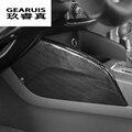 Стайлинг автомобиля, центральная консоль из углеродного волокна, обе стороны, панель водяной чашки, наклейки, отделка для Audi A3 8V, автомобиль...