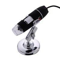500X/1000X8 LED Microscopio Elettronico Microscopio Digitale Usb Professionale di Montaggio + pinzette Ingrandimento Misura