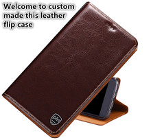 LJ01 Genuine Leather Flip Case With Card Slot For Asus Zenfone Max Pro M1 ZB602KL Phone