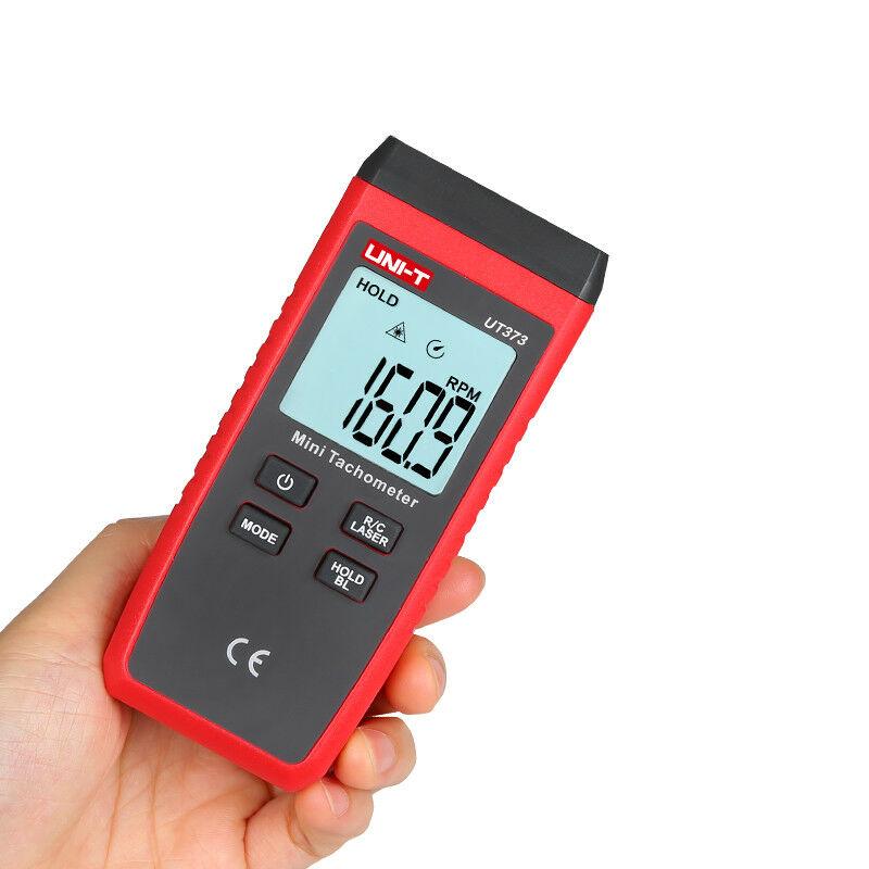 UNI-T UT373 Digital Laser Handheld Tachometer Single Trigger Auto RPM Speed Tester Measurement Meter Non-contact LCD Backlight