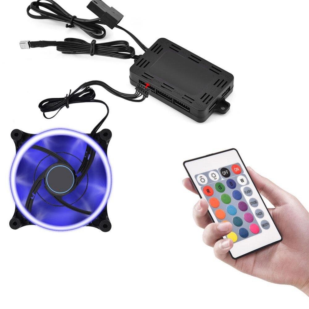 RGB LED Contrôleur À Distance Contrôle 4 Lumière Modes Couleur Personnalisation pour PC Ventilateur De Refroidissement Refroidisseur